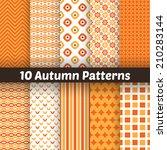 10 autumn vector seamless... | Shutterstock .eps vector #210283144