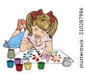 Vector Illustration  Kid...