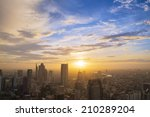 cityscape in the middle of... | Shutterstock . vector #210289204