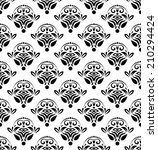 damask seamless vector pattern... | Shutterstock .eps vector #210294424