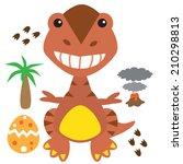cute dinosaur vector...   Shutterstock .eps vector #210298813