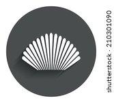 sea shell sign icon. conch... | Shutterstock . vector #210301090