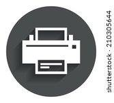 print sign icon. printing...