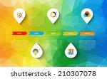 infographic timeline design ... | Shutterstock .eps vector #210307078