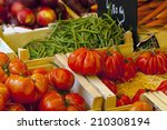 market stall with fresh... | Shutterstock . vector #210308194