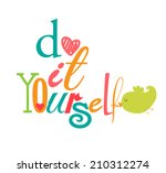 diy do it yourself | Shutterstock .eps vector #210312274