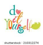 diy do it yourself   Shutterstock .eps vector #210312274