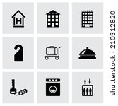vector black hotel icons set on ... | Shutterstock .eps vector #210312820