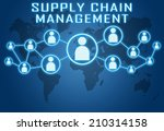 supply chain management concept ... | Shutterstock . vector #210314158