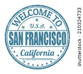 welcome to san francisco grunge ... | Shutterstock .eps vector #210324733
