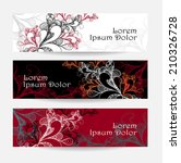 set abstract doodle banners... | Shutterstock .eps vector #210326728