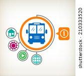 bus sign icon. public transport ... | Shutterstock .eps vector #210333520