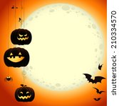 halloween moon | Shutterstock .eps vector #210334570