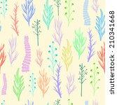 floral vector pattern  texture... | Shutterstock .eps vector #210341668