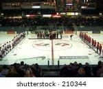 Hockey Pre Game Line Up
