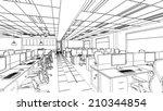 outline sketch of a interior... | Shutterstock . vector #210344854