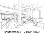 outline sketch of a interior... | Shutterstock . vector #210344860