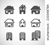 house icon set  each icon is a...