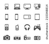 electronic devices icon set ... | Shutterstock .eps vector #210348814