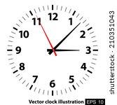 vector clock illustration | Shutterstock .eps vector #210351043