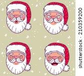 santa claus set | Shutterstock . vector #210359200