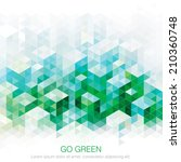 abstract geometric green urban... | Shutterstock .eps vector #210360748