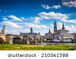 the ancient city of dresden ... | Shutterstock . vector #210361588