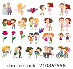 illustration of a set of... | Shutterstock .eps vector #210362998