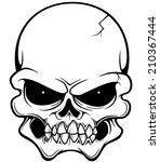 vector illustration of skull   Shutterstock .eps vector #210367444