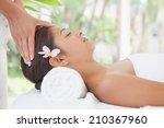 beautiful brunette enjoying a...   Shutterstock . vector #210367960
