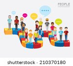 social groups of people icon... | Shutterstock .eps vector #210370180