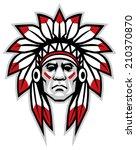 indian chief   Shutterstock .eps vector #210370870