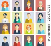 set of flat people icons....   Shutterstock .eps vector #210371713