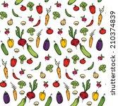 seamless kitchen background of... | Shutterstock . vector #210374839