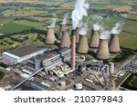 Aerial View Of A Power Station...