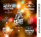 Vector Christmas Labels Set Fo...