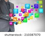 social media social network... | Shutterstock . vector #210387070