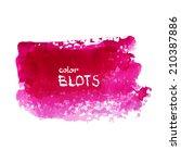 bright pink watercolor blot.... | Shutterstock .eps vector #210387886