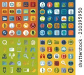 set of medical flat icons | Shutterstock .eps vector #210395950