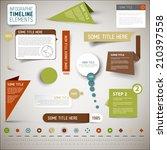 vector infographic timeline... | Shutterstock .eps vector #210397558