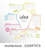 vector idea infographic... | Shutterstock .eps vector #210397573