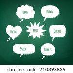 chalked design. vector...   Shutterstock .eps vector #210398839