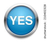 yes icon | Shutterstock .eps vector #210402328