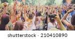 celebrants dancing during the... | Shutterstock . vector #210410890