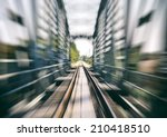 Railway Track On Bridge Blurre...