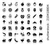 set of flat food  drinks ...   Shutterstock .eps vector #210418804