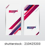 vector banners set with... | Shutterstock .eps vector #210425203