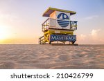 colorful lifeguard tower in... | Shutterstock . vector #210426799