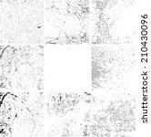 grunge textures set. background.... | Shutterstock .eps vector #210430096