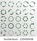 circular arrows  | Shutterstock .eps vector #210430438